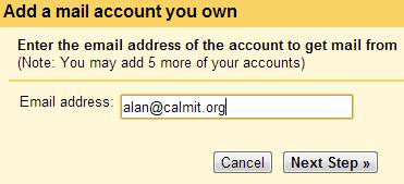 Add a mail account you own