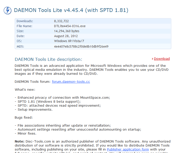 DAEMON Tools download part 2