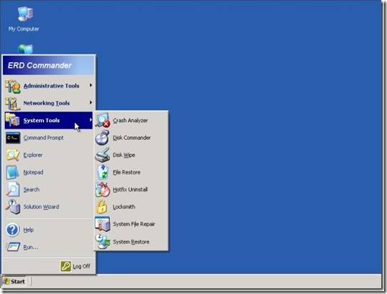 Reset lost windows xp administrator password using erd commander.