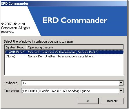 ERD Commander for Windows XP