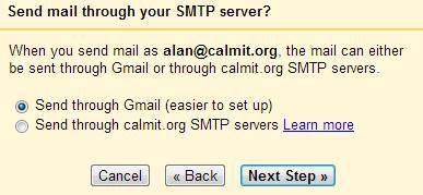 Setting up to send email through Gmail