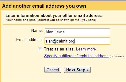Add an email address to Gmail