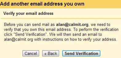 Gmail Settings Verification