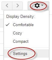 Go to Gmail Settings