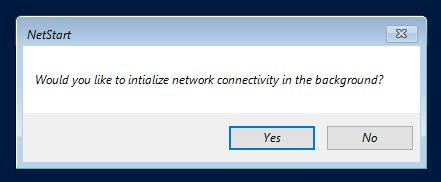 MSDaRT10 for Windows 10 - initialise network connectivity