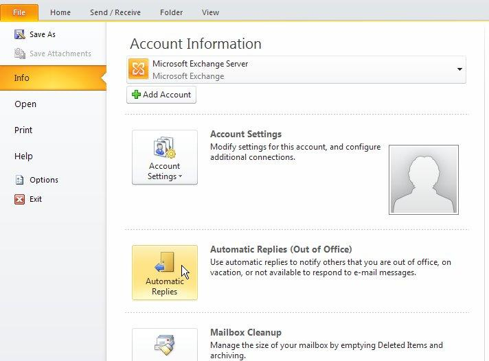 Outlook Auto Repy